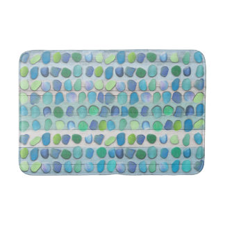 Sea Glass Beach Driftwood Bathroom Mat