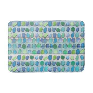 thetreeoflife Sea Glass Beach Driftwood Bathroom Mat