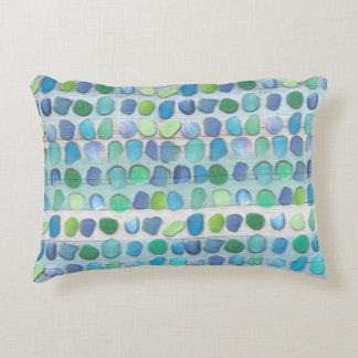 Sea Glass Beach Driftwood Decorative Pillow