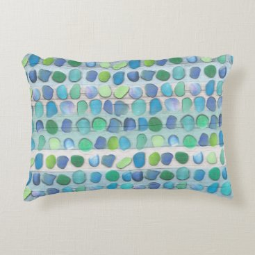 thetreeoflife Sea Glass Beach Driftwood Decorative Pillow