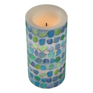 Sea Glass Beach Driftwood Flameless Candle