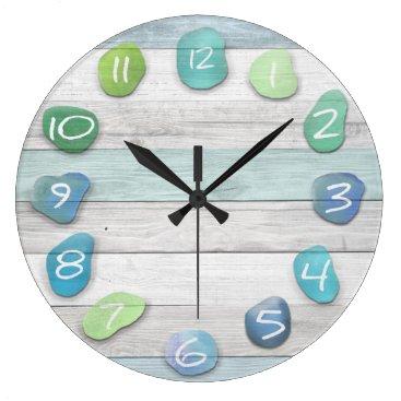 thetreeoflife Sea Glass Beach Driftwood Large Clock