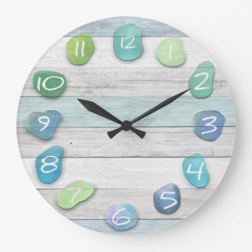 thetreeoflife Sea Glass Beach Driftwood Large Clock