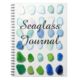 Sea glass, beach glass art Journal notebook