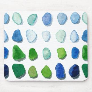 Sea glass, beach glass art mouse pad