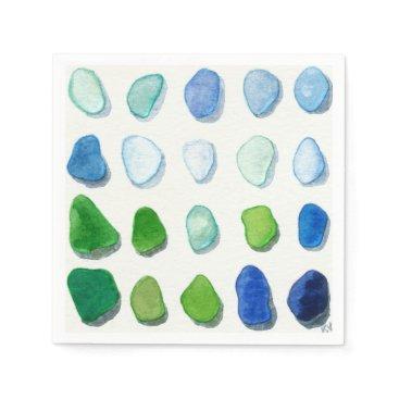 SunshineSeaglass Sea glass, beach glass art napkins