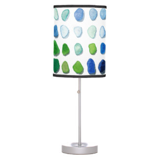 Sea Glass, Beach Glass Art Painting Table Lamp