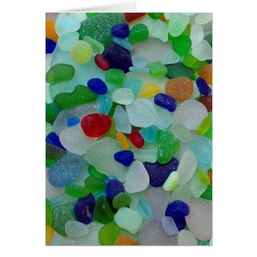SunshineSeaglass Sea glass, beach glass art photo greeting card
