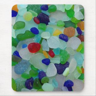 Sea glass, beach glass art photo mouse pad