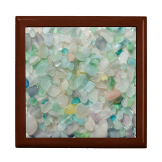 Sea glass, beach glass art photograph keepsake box