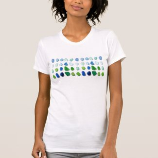 Sea glass, beach glass art women's tee shirt