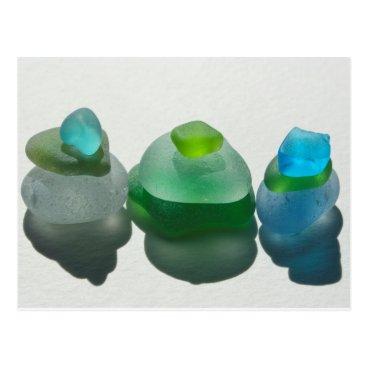 SunshineSeaglass Sea glass, beach glass, blue, green, post card