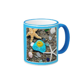 Sea glass, beach glass funny art mug