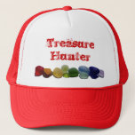 """Sea glass, beach glass rainbow baseball cap<br><div class=""""desc"""">Perfect to wear to the beach when you&#39;re hunting for glass.  You can change the message,  choose different colors if you&#39;d like.  This image is available on other items in my store.</div>"""