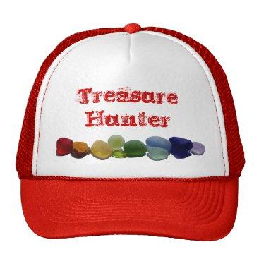 SunshineSeaglass Sea glass, beach glass rainbow baseball cap