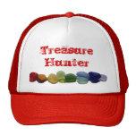 Sea glass, beach glass rainbow baseball cap trucker hat