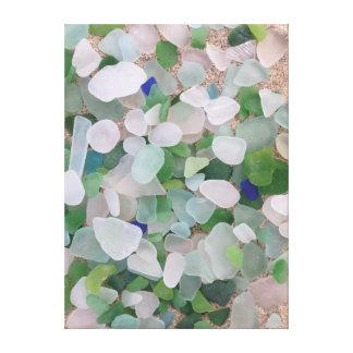 Sea glass beach poster canvas print