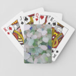 "Sea glass bridge games playing cards<br><div class=""desc"">Perfect for those who love the seaside life! Genuine sea glass tumbled by the waves graces these playing cards.</div>"