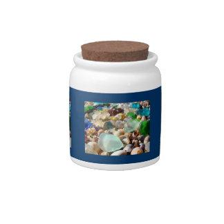 Sea Glass Candy Jars Summer Beach Coast gifts