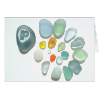 Sea Glass Cards - add your own text Cards