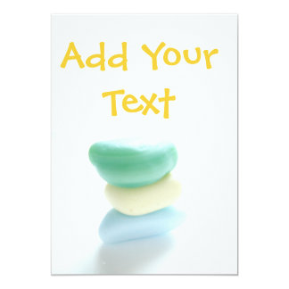 Sea Glass Cards - add your own text