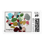 Sea Glass collage Postage
