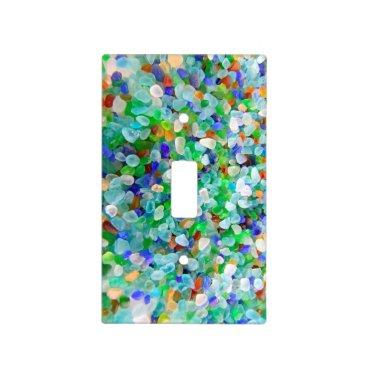 IslandImageGallery Sea Glass Decor Light Switch Cover
