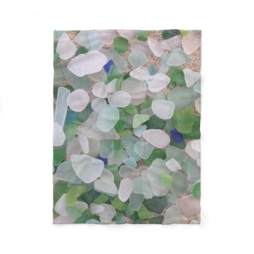 BrookmillHouse Sea glass fleece blanket