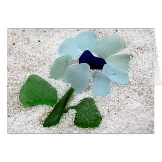 Sea Glass Floral Card