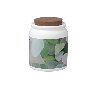 Sea glass from the ocean candy jar