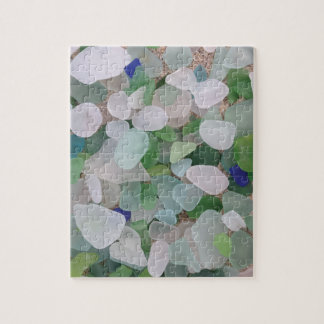 Sea glass from the ocean jigsaw puzzle