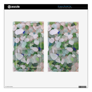 Sea glass from the ocean kindle fire skin
