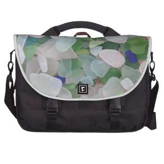 Sea glass from the ocean bag for laptop