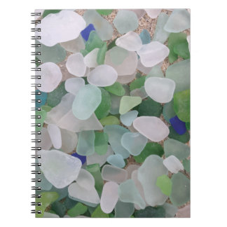 Sea glass from the ocean note books