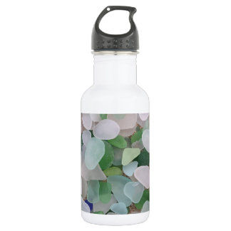 Sea glass from the ocean 18oz water bottle