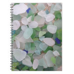 Sea glass from the ocean spiral notebook