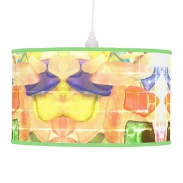 Sea Glass Hanging Lamp