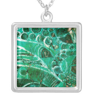 Sea Glass I Silver Plated Necklace