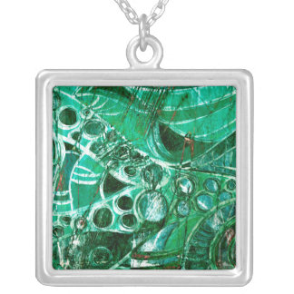 Sea Glass II Silver Plated Necklace