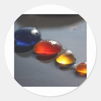 Sea Glass Jelly Tots Classic Round Sticker