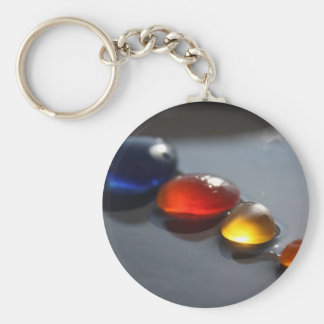 Sea Glass Jelly Tots Basic Round Button Keychain