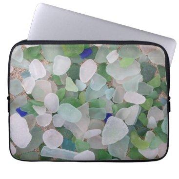 BrookmillHouse Sea glass laptop sleeve