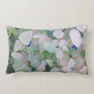 Sea glass lumbar pillow