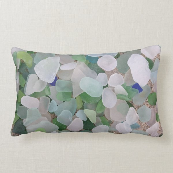 Sea glass lumbar pillow