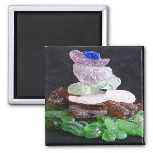Sea Glass Fridge Magnets