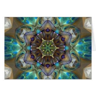 Sea Glass Mandala Card