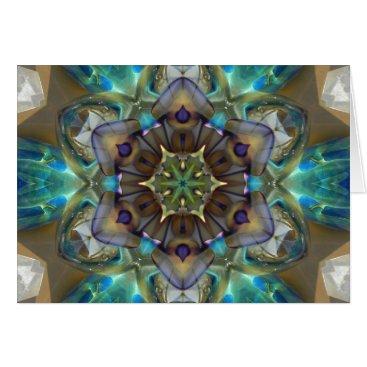 SeaAngel12 Sea Glass Mandala Card