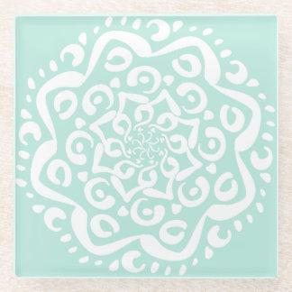 Sea Glass Mandala Glass Coaster