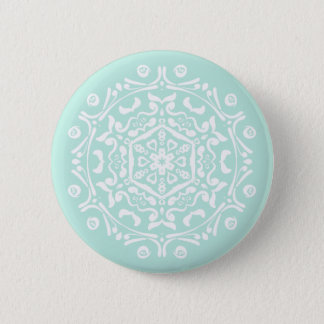 Sea Glass Mandala Pinback Button