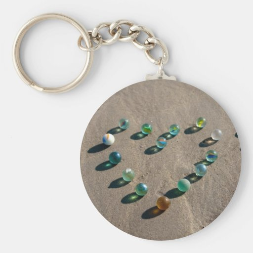Sea Glass Marble Galore Key Chains